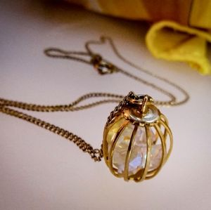 Caged Jewels Pendant Necklace